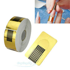 500 pcs Gold Sticker Tool Nail Art Form Acrylic UV Gel Tip Extension Decoration