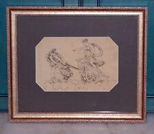 French 19th Century Architect Decoration Drawing Paper char de la