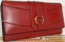 LADIES LARGE VISCONTI RED SOFT LUXURY LEATHER WALLET PURSE
