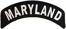BRAND NEW MARYLAND STATE ROCKER BIKER IRON ON PATCH