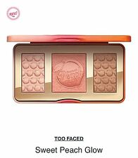 TOO FACED Sweet Peach Glow HIGHLIGHTER/BLUSH/BRONZER Palette~AUTHENTIC~NIB