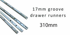 Drawer Slides Runners 17mm Grooved drawer ball bearing runners 310mm 5 Pairs