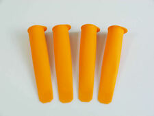 4 x ORANGE Silicone PUSH UP Ice Cream Lolly Pop Mould Popsicle Calipo Maker Mold