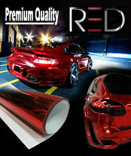 2 x A4 Sheets Air Drain 'RED' Mirror Chrome Vinyl Film Car Wrap Sticker