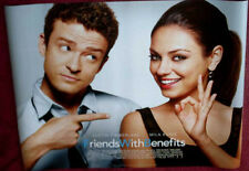 Cinema Poster: FRIENDS WITH BENEFITS 2011 (Quad) Mila Kunis Justin Timberlake