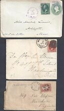 US 1860's 1880's THREE WASHINGTON DC COVER DIFFERENT CANCELS ONE IN VIOLET ONE
