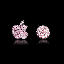 Crystal Bling Deco Home Button Decal Stickers For iPhone 4S 5 5S 6 6s Plus Pink