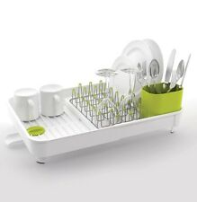 New Joseph Joseph Extend Expandable Kitchen Dish Drainer Rack - White/Green