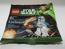 Lego Star Wars Clone Trooper Lieutenant Polybag Set New In Bag 5001709-1