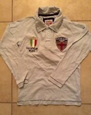 NWT VINGINO RUGBY BLUE LONG SLEEVE MILANO ITALY ITALIAN FLAG BOYS SHIRT 8 10 12