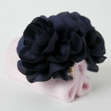 Handmade Dahlia Chiffon Fabric Twin Flower  Hair Jaw Claw Clip Accessories