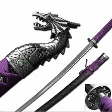 "41"" Katana Sword PURPLE Dragon Slayer Stainless Steel Collectible Samurai Ninja"