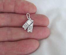 Sterling Silver Theater / Movie tickets charm