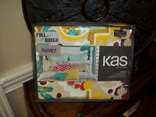 NIP Kas Australia Nyah Yellow/Purple/Pink/Aqua Floral Full/Queen Duvet Cover Set