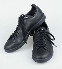 New. ADIDAS RAF SIMONS STAN SMITH Black Leather Sneakers Shoes Size 12 $455