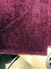 1.8 METRES TOP OF THE RANGE WINE CHENILLE BACK COATED FABRIC