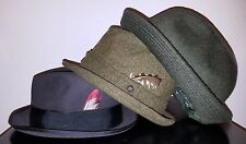 Lot of 3 Vintage Fedora Hats Stetson Brooke's Brothers size 6 7/8