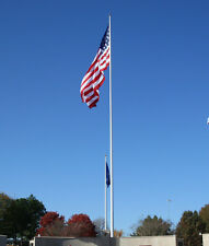 "40' ft. Flagpole Aluminum 7"" Bottom  External Halyard Flag Pole Made In USA"