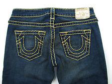 True Religion Rainbo Gina Damen jeans Gold Dark Chalk Wash Hose Blau 27