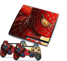 Spider-Man Skin Sticker Cover Set for PS3 Playstation 3 Slim Console