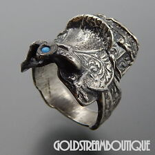 UNIQUE STERLING SILVER SADDLE COWBOY COWGIRL WESTERN WRAP RING SIZE 9.5