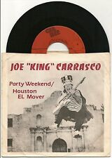 "JOE KING CARRASCO PARTY WEEKEND + HOUSTON EL MOVER USA 7"" GEE BEE RECORDS 1980"