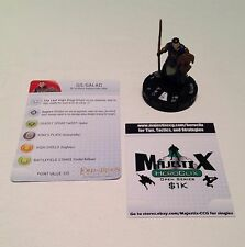 Heroclix LotR: Fellowship of the Ring set Gil-Galad #026 Rare figure w/card!