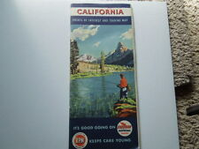 1949 Chevron and RPM Roadmap with Points of Interest and Touring Map California
