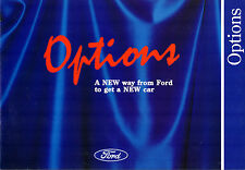 Ford Options Finance Packages 1992 UK Market Foldout Brochure