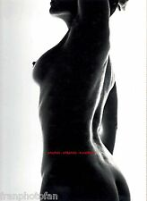 Original photo of female nude, silhouette