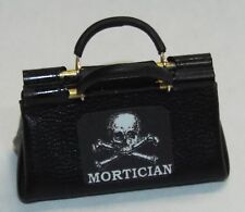 Dollhouse miniature handcrafted 1/12th scale morticians undertakers bag closed