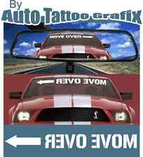 MOVE OVER DECAL STICKER GREAT FOR YOUR RIDE RALLY DRIFT MOTORSPORT JDM EDM USDM