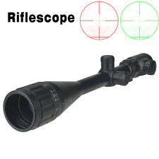 Tactical Optics 6-24X50AOEG Red/Green Dot Sight Scope Mil-dot Illuminated&Mount