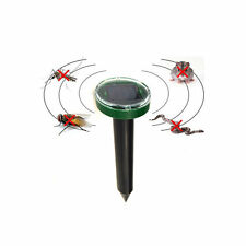 Garden Yard Farm Solar Power Ultrasonic Gopher Mole Snake Pest Repeller Mosquito