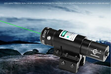Mini Pistol Compact Green Dot Laser Sight Scope 20mm Picatinny Rail Mount