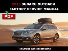 2015 SUBARU OUTBACK ULTIMATE FACTORY OEM SERVICE REPAIR WORKSHOP SHOP FSM MANUAL