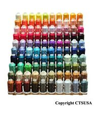 100 LARGE POLYESTER EMBROIDERY MACHINE THREAD COLOR SET