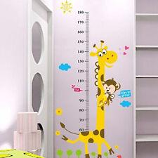 Kids Room Decor Cartoon Giraffe Monkey Height Chart Wall Decals Stickers Vinyl