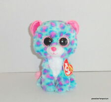 """New TY Beanie Boos 6"""" Sydney Plush Blue Pink Leopard Claire's Exclusive P81"""