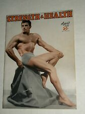 Vintage STRENGTH AND HEALTH April 1949 Body Building Mens Armand Tanny
