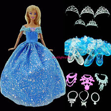 Princess Dress Ball Gown Party Fairy Tale Clothes Accessories For Barbie Doll 30