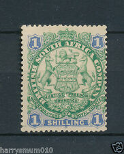 Rhodesia 1896 BSAC 1896  1/- one shilling  stamp MM RA