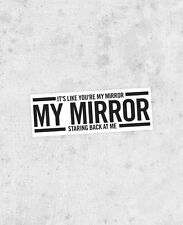"Justin TImberlake lyric sticker! ""Mirror"" the 20/20 experience, 'N Sync,"