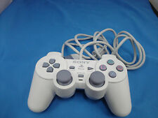 Official Sony PlayStation 1 PSOne Controller White Dualshock New Condition RARE