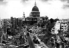 London Blitz St Paul's Cathedral Bomb Damage World War 2, Photo 6x4 Inch Reprint