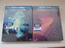 2 Ghostbusters I & II Pop Art Blu Ray Digital HD Steelbook Lot Region Free