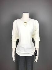 INC Sweater Top Sz 2X WOMAN'S  3/4 Sleeve White Knit Metal Plate Neck NEW