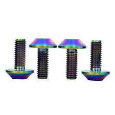4 Pcs M6X15 Colorful Bike Titanium Ti Alloy Gr5 Allen Hex Bolts Fasteners