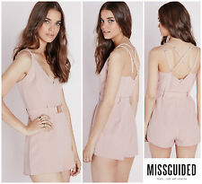 MISSGUIDED  BUCKLE  DETAIL STRAPPY  PLAYSUIT ROMPER  Sz 6  UK 10 NEW Nordstrom