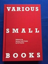 VARIOUS SMALL BOOKS BY ED RUSCHA - FIRST EDITION SIGNED BY ED RUSCHA